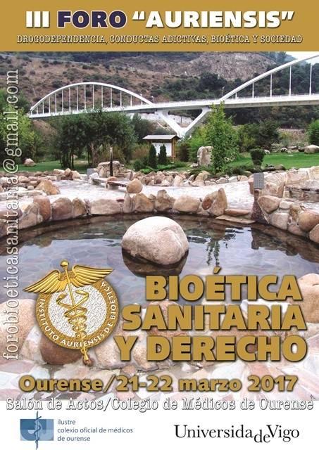 III Foro Auriensis de Bioética sanitaria y Derecho