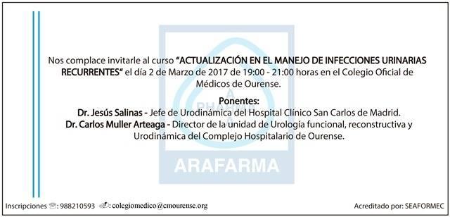 Jornada de Actualización en Manejo de Infecciones Urinarias Recurrentes