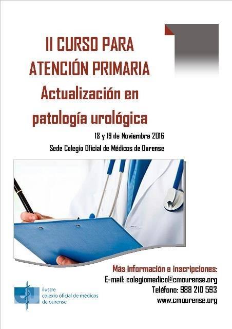 II Curso para Atención Primaria sobre Actualización en Patología Urológica