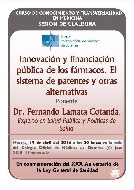 Sesión de Clausura Curso de Conocimiento y Transversalidad en Medicina