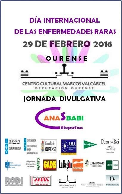 29 DE FEBRERO 2016. DÍA INTERNACIONAL DE LAS ENFERMEDADES RARAS. JORNADA DIVULGATIVA MÉDICO-CIENTÍFICA