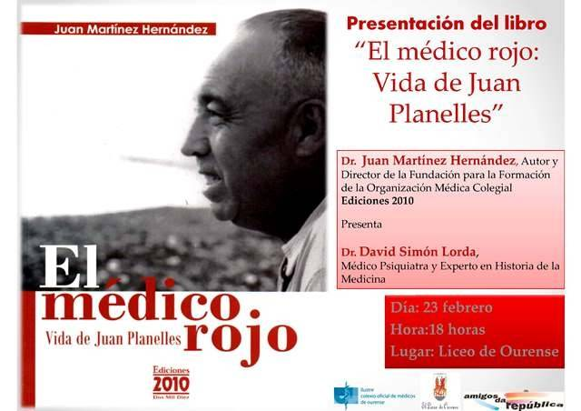 Presentación del libro ?El médico rojo: vida de Juan Planelles?