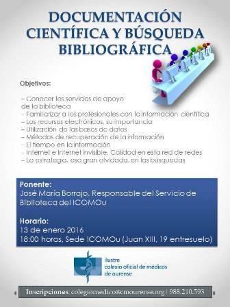 TALLER DE DOCUMENTACIÓN CIENTÍFICA Y BÚSQUEDA BIBLIOGRÁFICA