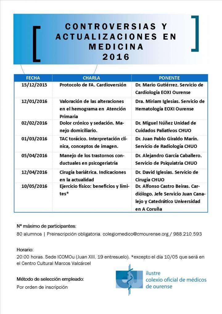 CURSO CONTROVERSIAS Y ACTUALIZACIONES EN MEDICINA 2016