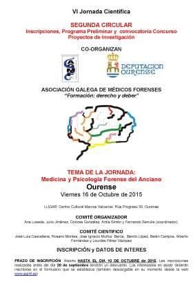 VI Jornada de medicina y psicología forense del anciano