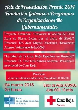 Acto de Presentación del Premio 2014 Fundación Galenus a Programas de Organizaciones No Gubernamentales