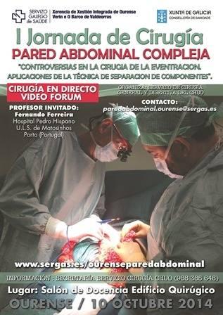 I Jornada de Cirugía. Pared abdominal compleja, separación de componentes por laparoscopia