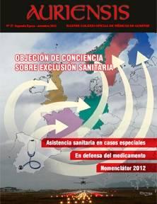 AURIENSIS Nº27 Objeción de conciencia sobre exclusión sanitaria