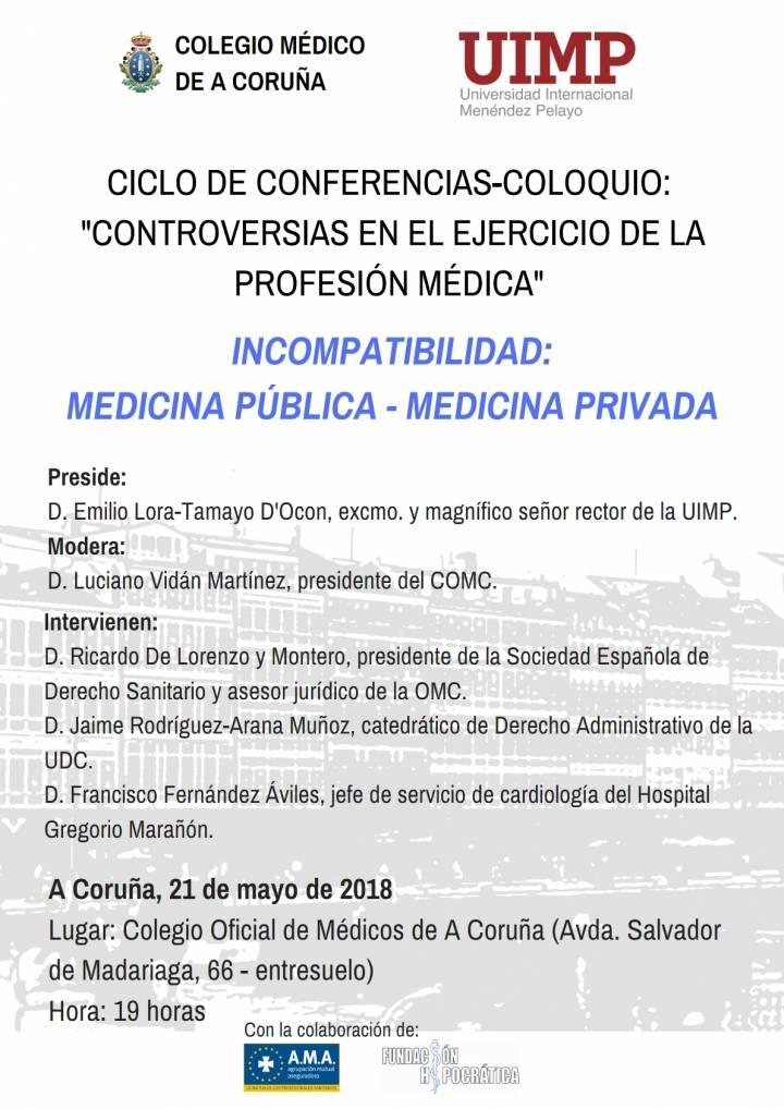 Jornada sobre Incompatibilidades en el Ejercicio Público – Privado de la Medicina