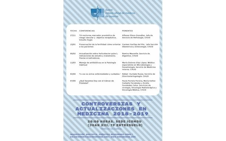 Controversias e Actualizacións en Medicina 2018-2019