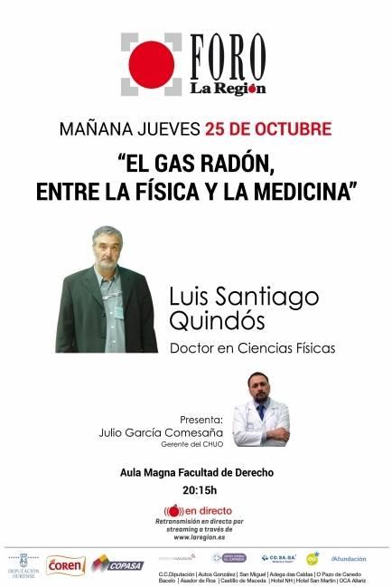 """Foro La Región: """"El gas radón, entre la Física y la Medicina""""."""