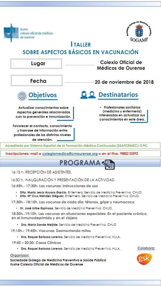 I TALLER SOBRE ASPECTOS BÁSICOS DE VACUNACIÓN