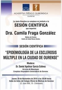 """Sesión AMQ: """"Epidemiología de la esclerosis múltiple en la ciudad de Ourense"""""""