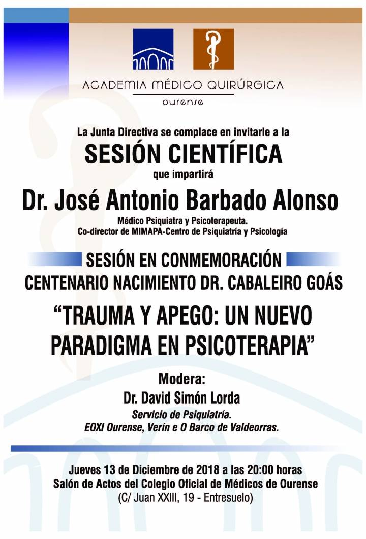 """Sesión AMQ: """"Trauma y Apego: un Nuevo Paradigma en Psicoterapia"""""""
