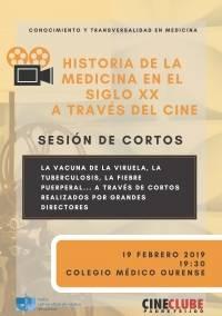 Historia de la Medicina en el siglo XX a través del cine. Sesión de cortos