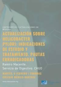 Actualización sobre Helicobacter pylori.: indicaciones de estudio y tratamiento. Pautas erradicadoras.
