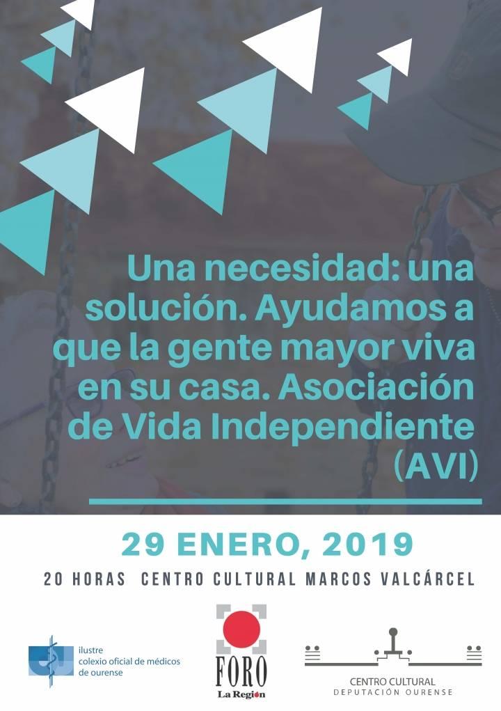 Una necesidad: una solución. Ayudamos a que la gente mayor viva en su casa. Asociación de Vida Independiente (AVI)