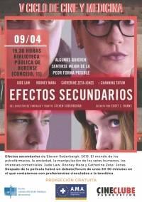 """V Ciclo de Cine y Medicina: """"Efectos secundarios"""""""