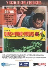 """V Ciclo de Cine y Medicina: """"Días de Vino y Rosas"""""""