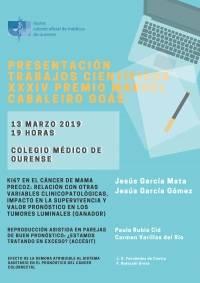Presentación trabajos presentados al XXXIV Premio Cabaleiro Goás