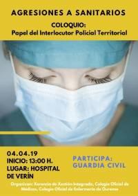 """Coloquio: """"Papel del Interlocutor Policial Territorial en las Agresiones a Médicos/as"""". Verín"""