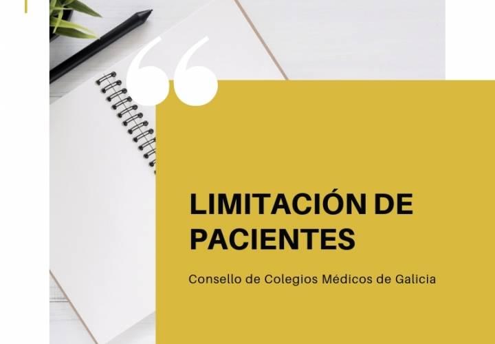 LIMITACIÓN DE PACIENTES. CONSELLO DE COLEGIOS MÉDICOS DE GALICIA