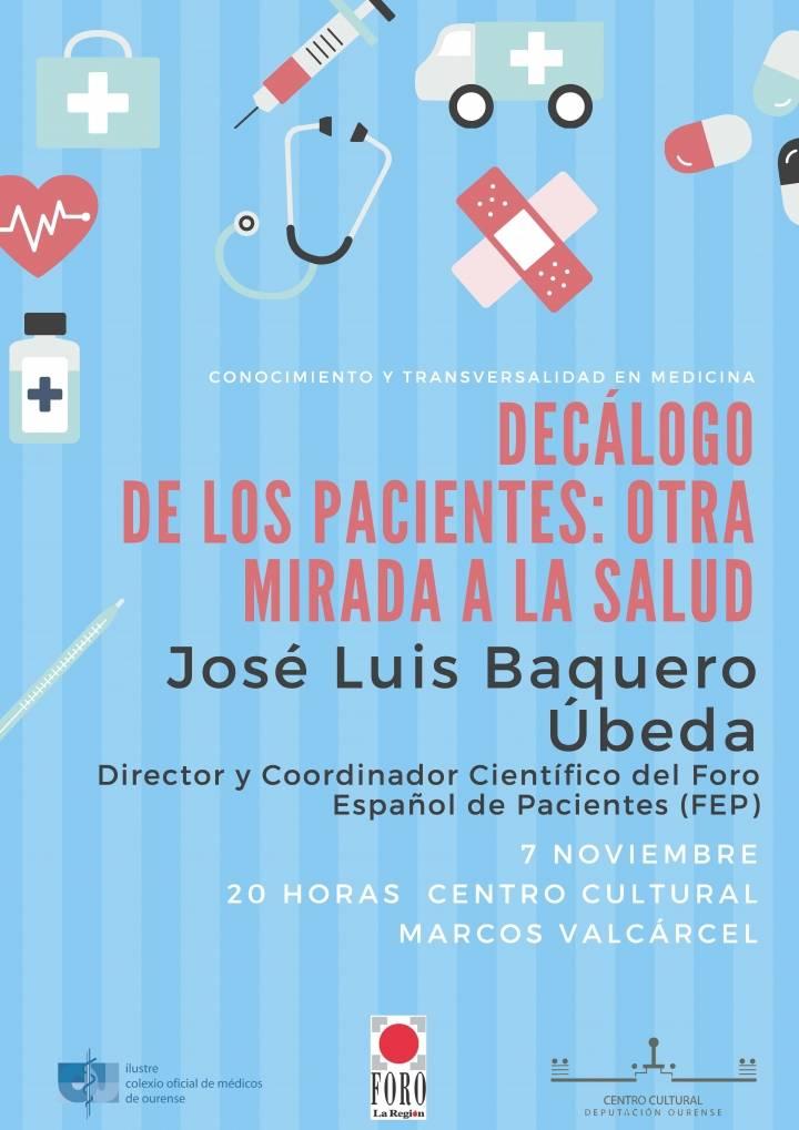 """Conferencia: """"Decálogo de los pacientes: otra mirada a la salud"""""""