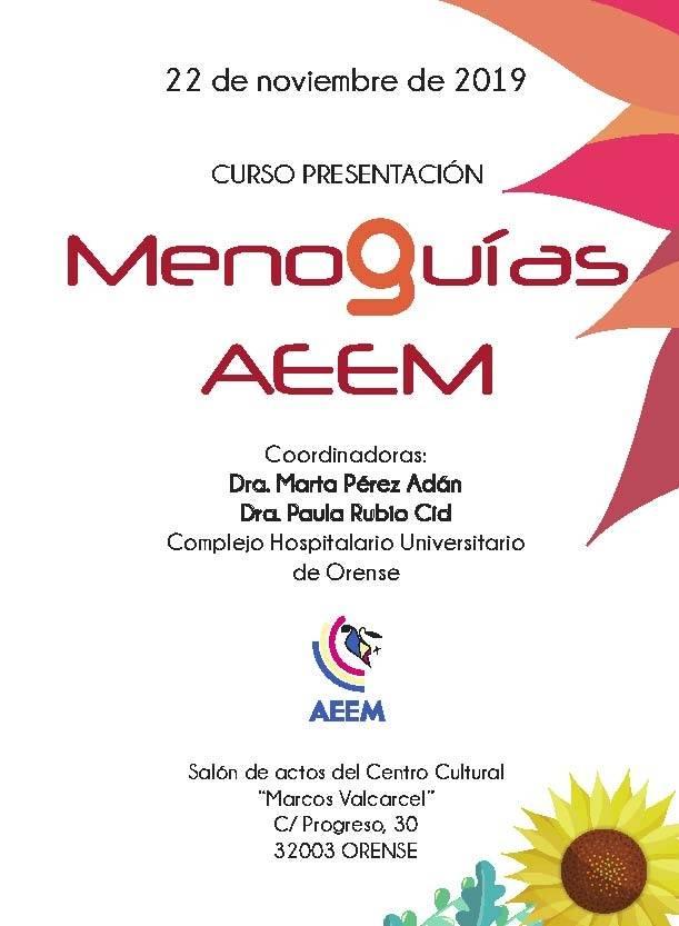 Curso presentacion de Menoguias de la AEEM (Asociación Española para el Estudio de la Menopausia)