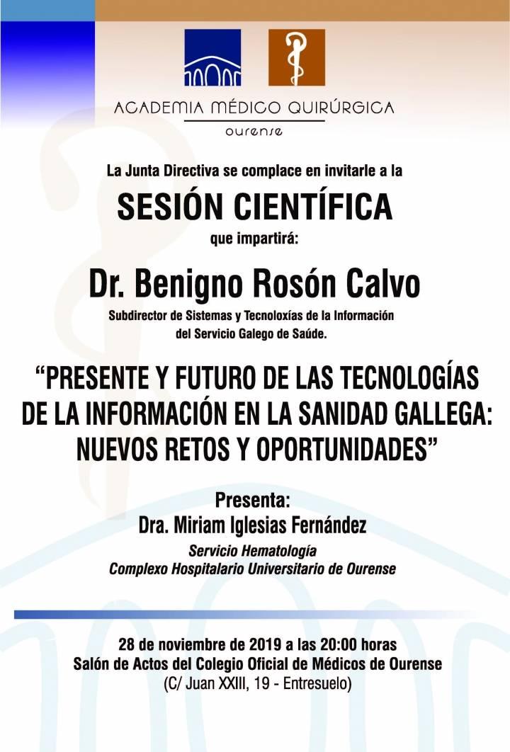 Sesión AMQ: Presente y Futuro de las Tecnologías de la Información en la Sanidad Gallega: Nuevos Retos y Oportunidades