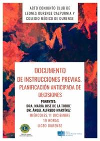 "Conferencia: ""Documento de Instrucciones Previas: Planificación Anticipada de Decisiones"