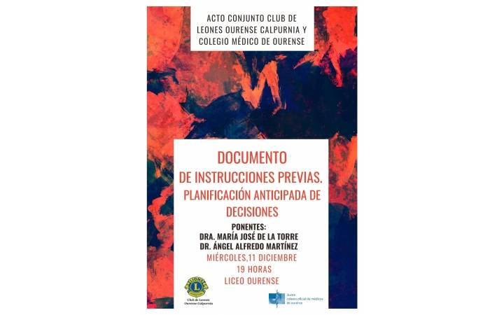 """Conferencia: """"Documento de Instrucciones Previas: Planificación Anticipada de Decisiones"""