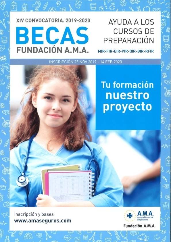 XIV Convocatoria Becas Fundación A.M.A. 2019-2020 (MIR-FIR-EIR-PIR-QIR-BIR-RFIR)