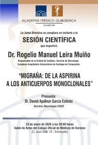 """Sesión AMQ: """"Migraña: de la aspirina a los anticuerpos monoclonales"""""""
