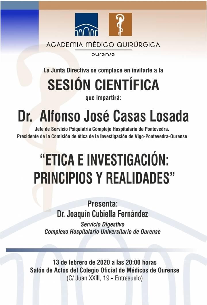 """Sesión AMQ: """"Ética e Investigación: Principios y Realidades """""""