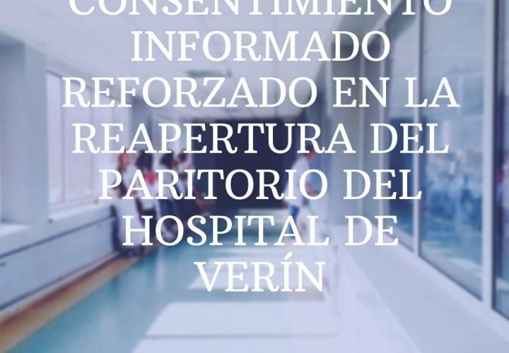 N.P. CONSELLO GALEGO DE COLEXIOS MÉDICO: CONSENTIMIENTO INFORMADO REFORZADO EN LA REAPERTURA DEL PARITORIO DEL HOSPITAL DE VERÍN