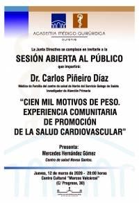"""Sesión AMQ: """"Cien mil motivos de peso. Experiencia comunitaria de Promoción de la Salud Vascular"""""""