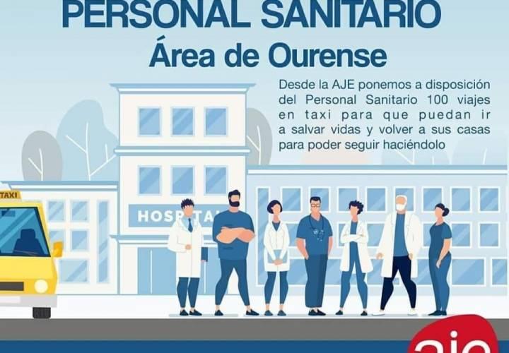 Taxi gratis para personal sanitario. Área Sanitaria de Ourense