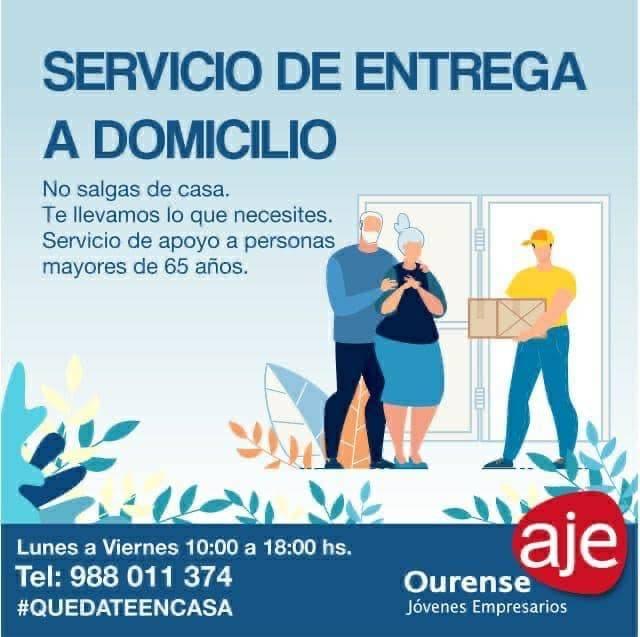 Servicio de entrega a domicilio para mayores de 65 años