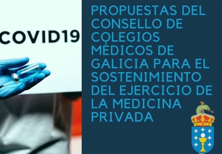 Propuestas del Consello de Colegios Médicos de Galicia  para el sostenimiento del ejercicio de la medicina privada