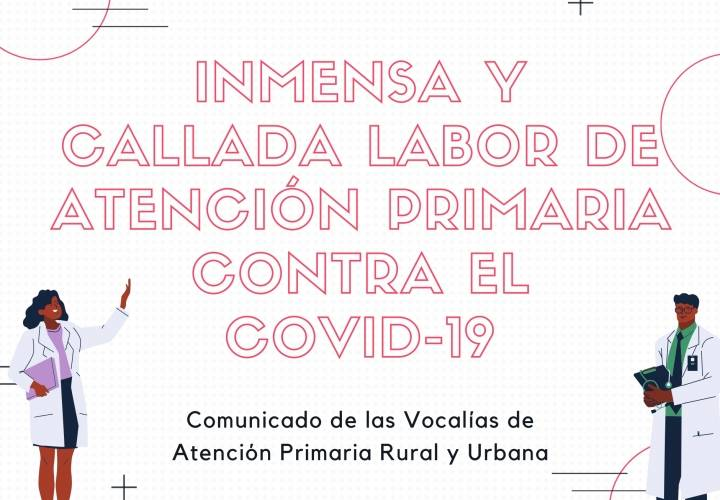 Inmensa y callada labor de Atención Primaria contra el COVID-19