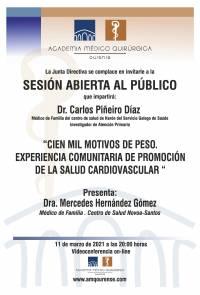"""Sesión AMQ: Webinar """"CIEN MIL MOTIVOS DE PESO. EXPERIENCIA COMUNITARIA DE PROMOCIÓN DE LA SALUD CARDIOVASCULAR """""""