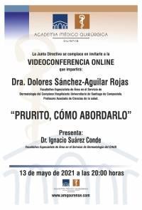 """Sesión AMQ: Webinar """" PRURITO, CÓMO ABORDARLO """""""