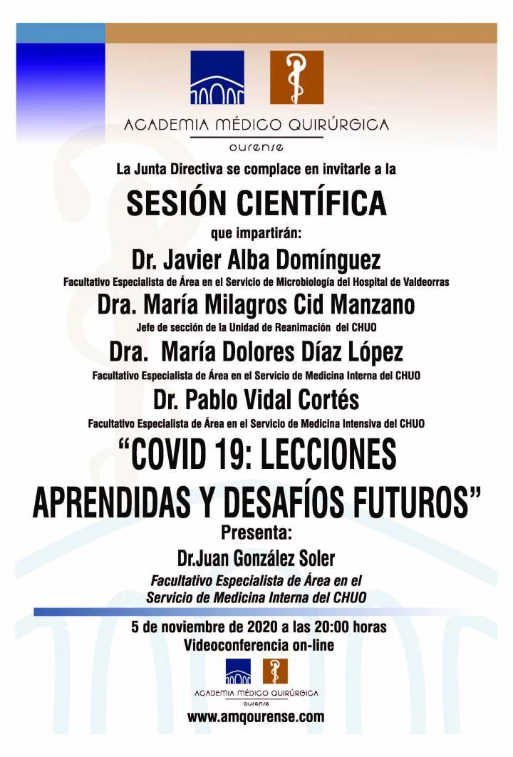 """Sesión AMQ: Webinar """"COVID 19: LECCIONES APRENDIDAS Y DESAFÍOS FUTUROS"""""""