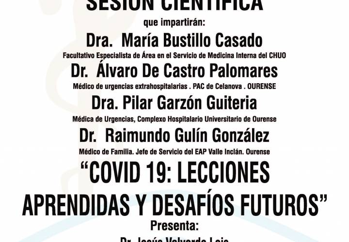 """Sesión AMQ: Webinar """"COVID 19: LECCIONES APRENDIDAS Y DESAFIOS FUTUROS II"""""""