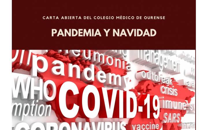 Pandemia y Navidades. Carta abierta del Colegio Médico de Ourense