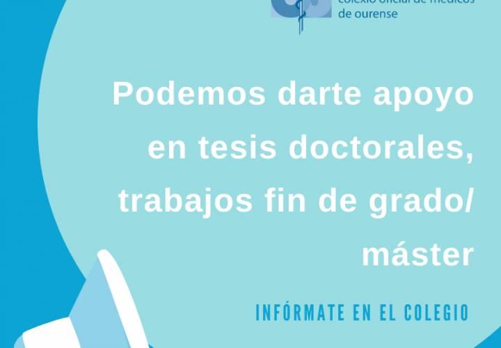 Apoyo en tesis doctorales, trabajos fin de grado/ máster
