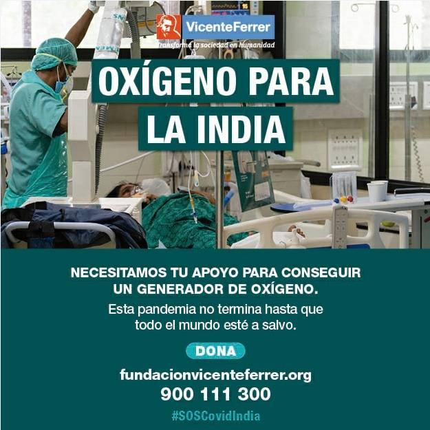 Emergencia COVID India. Necesitan tu apoyo. Fundación Vicente Ferrer
