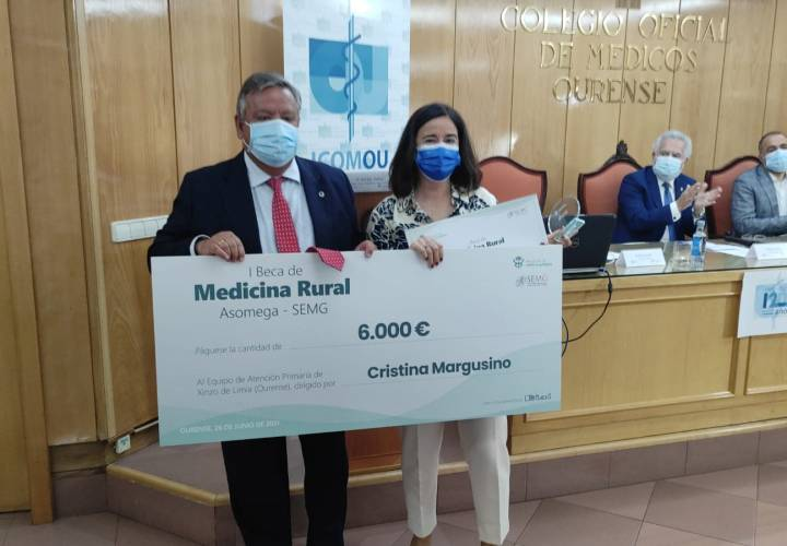 ENTREGA DE LA I Beca de Medicina Rural Asomega - SEMG