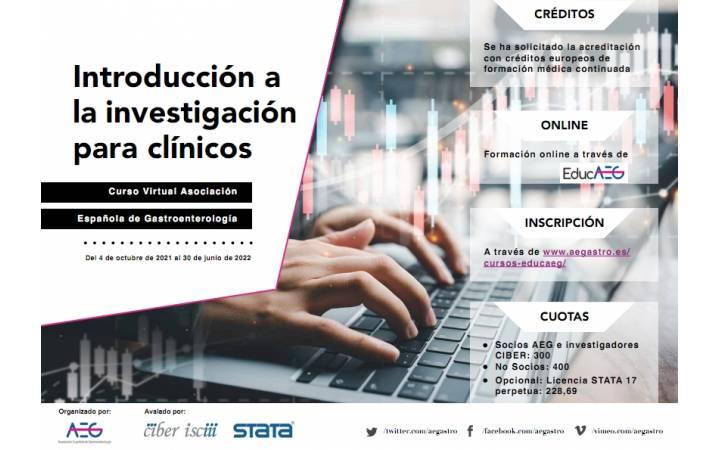 Curso Virtual de Introducción a la investigación para clínicos.