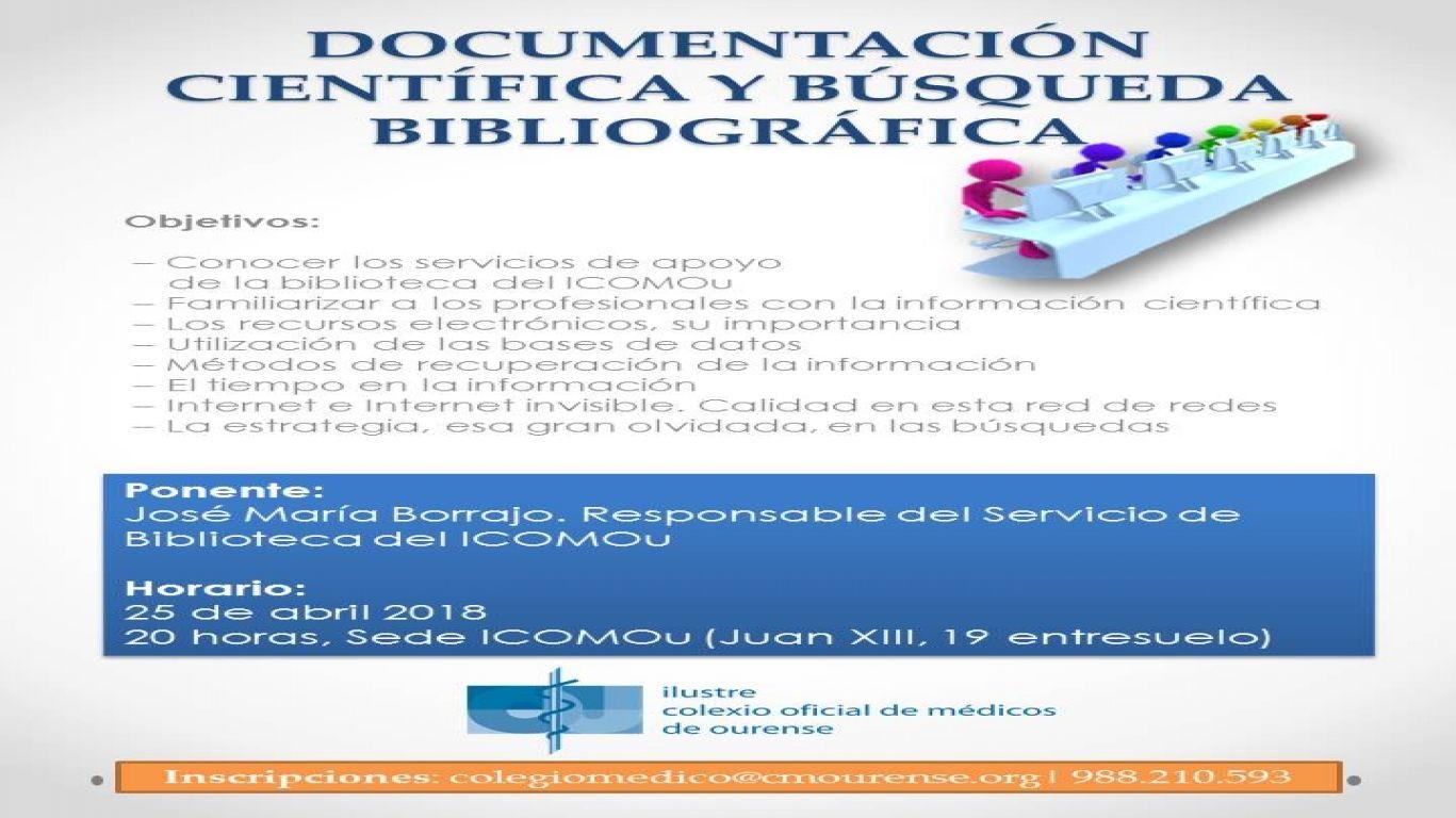 Documentación científica y búsqueda bibliográfica